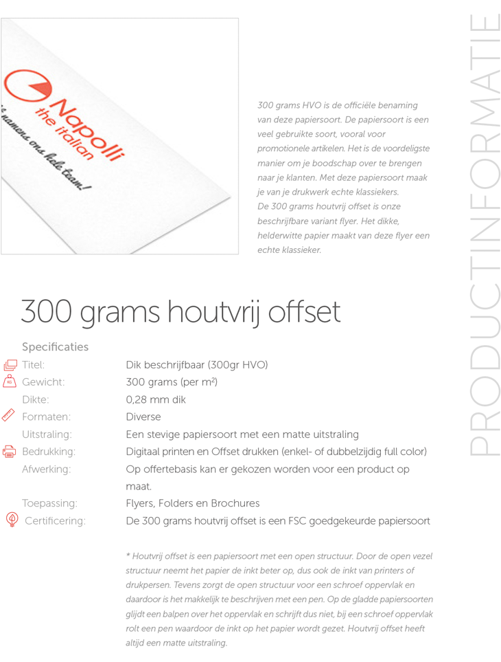 300 grams houtvrij offset