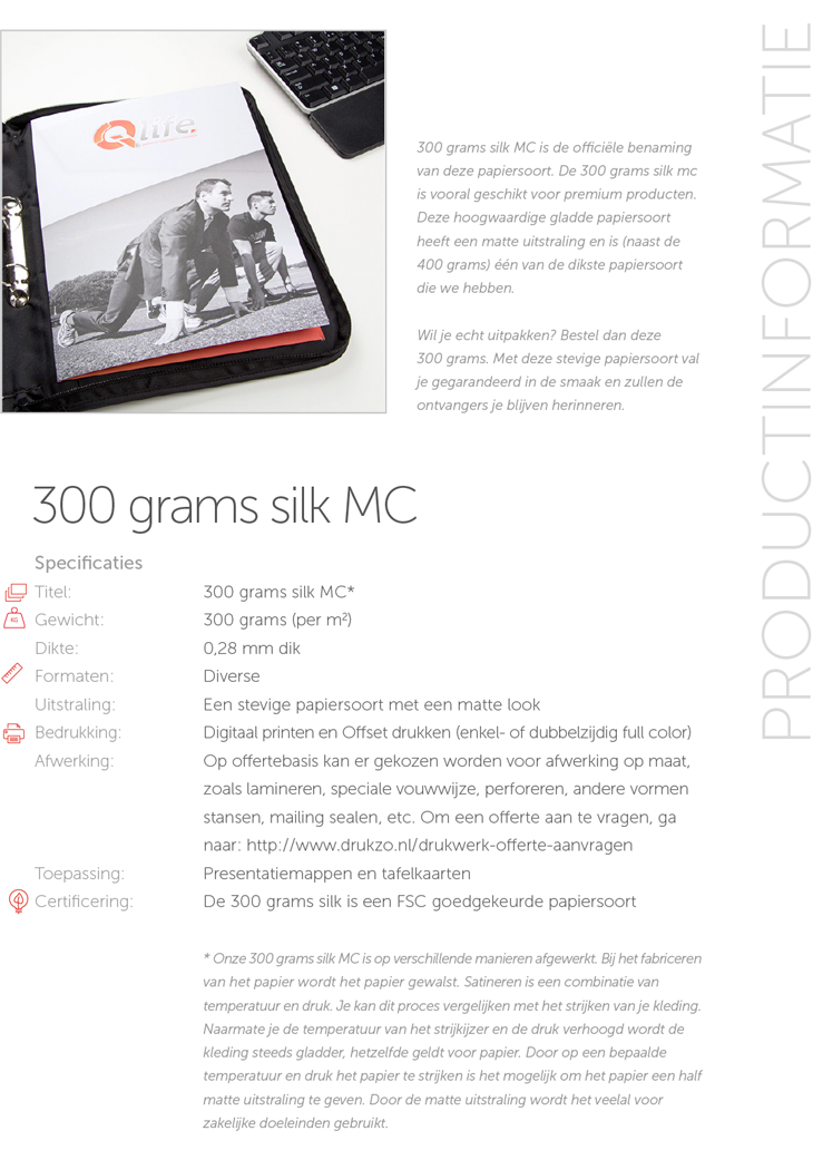 300 grams silk MC