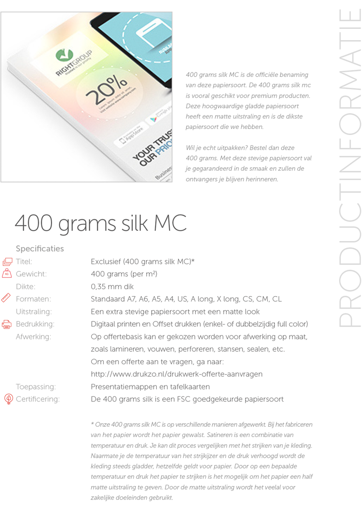 400 grams Silk MC
