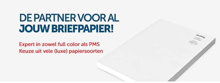 Briefpapier full color PMS