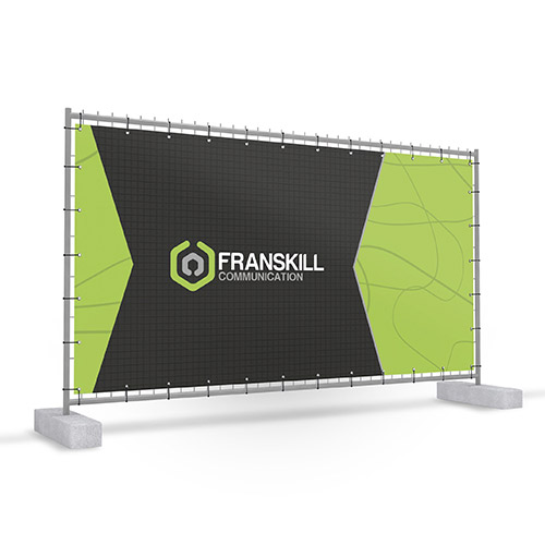 Construction fence banners