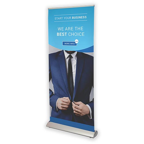 voorkant Deluxe roll-up banners
