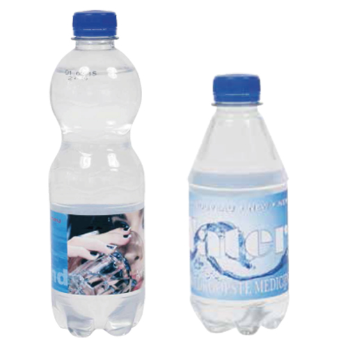 Waterflesjes met 500ml, 330ml en 300ml formaat