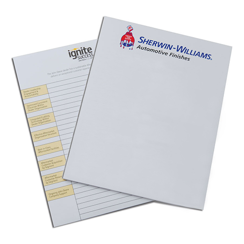 Print hospitality notespads with your logo