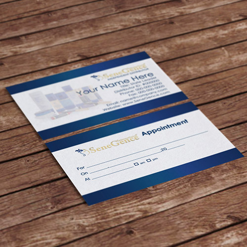 Appointment cards design con logo