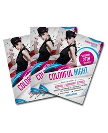 High quality A6 flyer printing