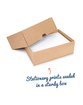 Invoice paper packaging