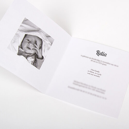 Luxurious Birth Anouncement Cards on High-Quality Paper