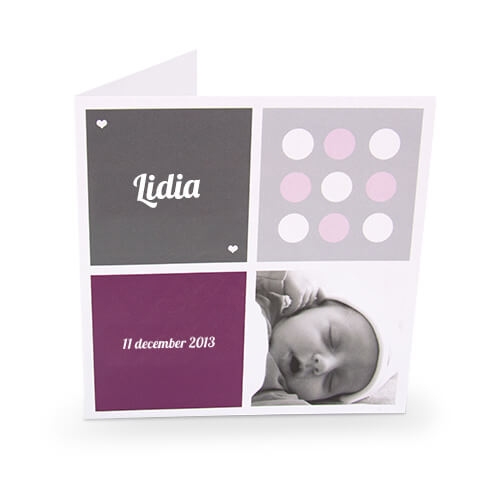 Birth announcement cards printing