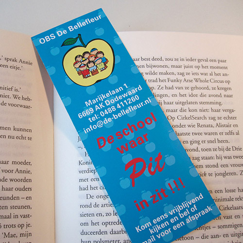 Bookmarks with logo