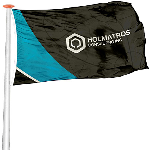 Flag with custom size printing
