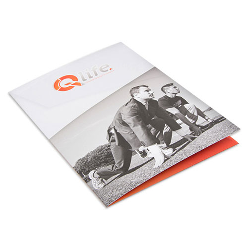 Print presentation folders at high quality