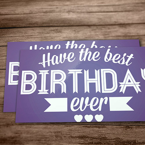 order personal greeting cards from helloprint, Birthday card