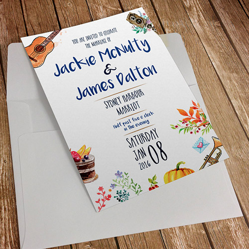 Christmas invitations with logo