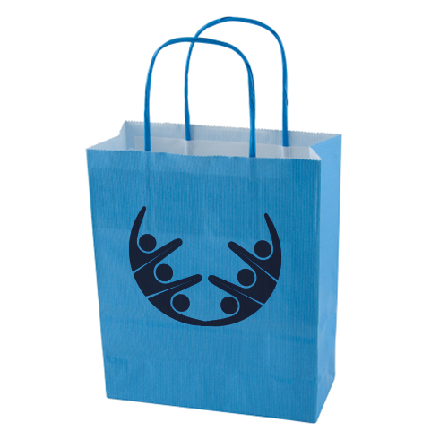 Kraft bags with logo