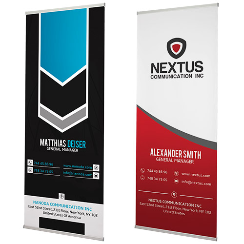 High quality l-banners for a professional look