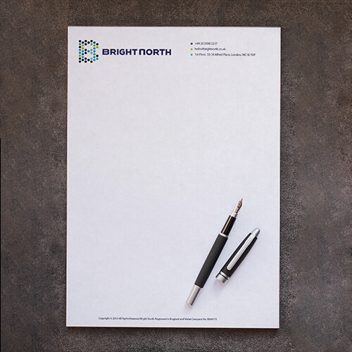 Letterheads with logo