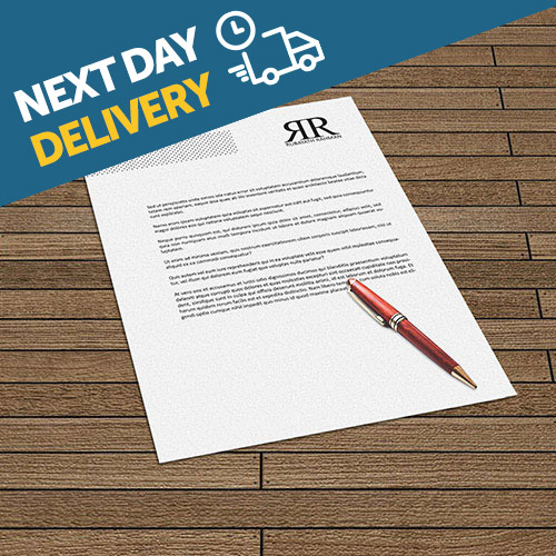 Professionally printed letterheads