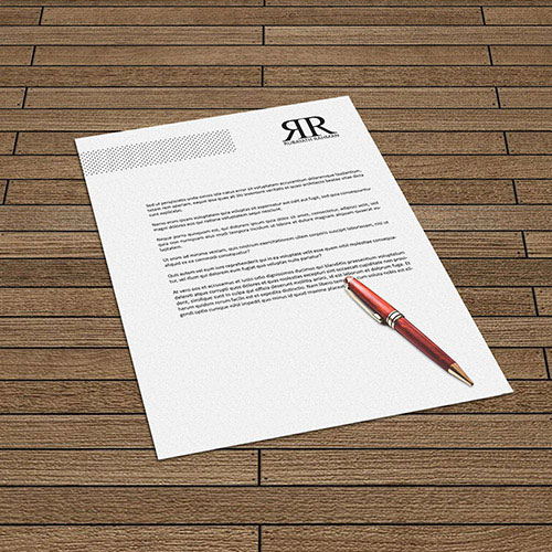 Printed letterheads for your corporate identity