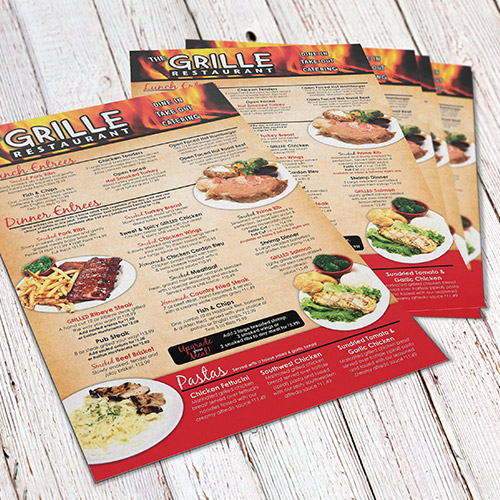 Menu Cards with logo