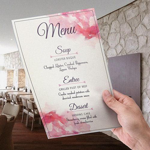 Menu Cards personalisation