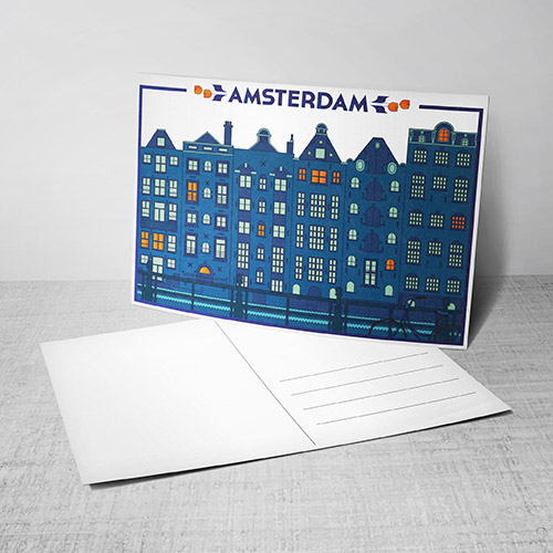 Postcards with logo