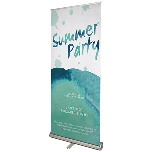 Premium roller banners front