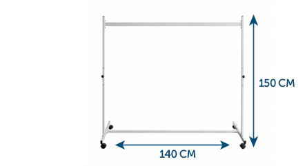 Whiteboard Stand 140 x 150 cm