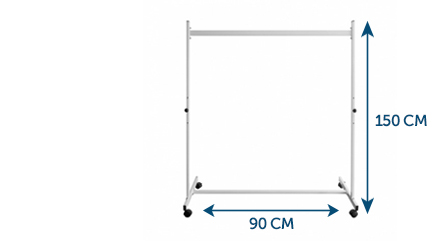 Whiteboard Stand 90 x 150 cm