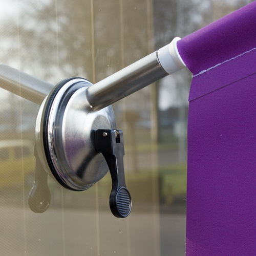 Suction Cap Window Flags with logo