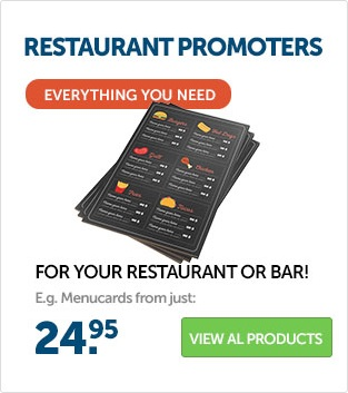 Order printed products for your restaurant at Helloprint