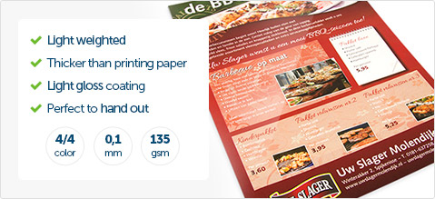 flyers different types of paper helloprint