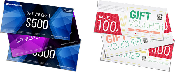 gift vouchers make your own online and for free helloprint