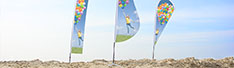 Our brand new beach flag range